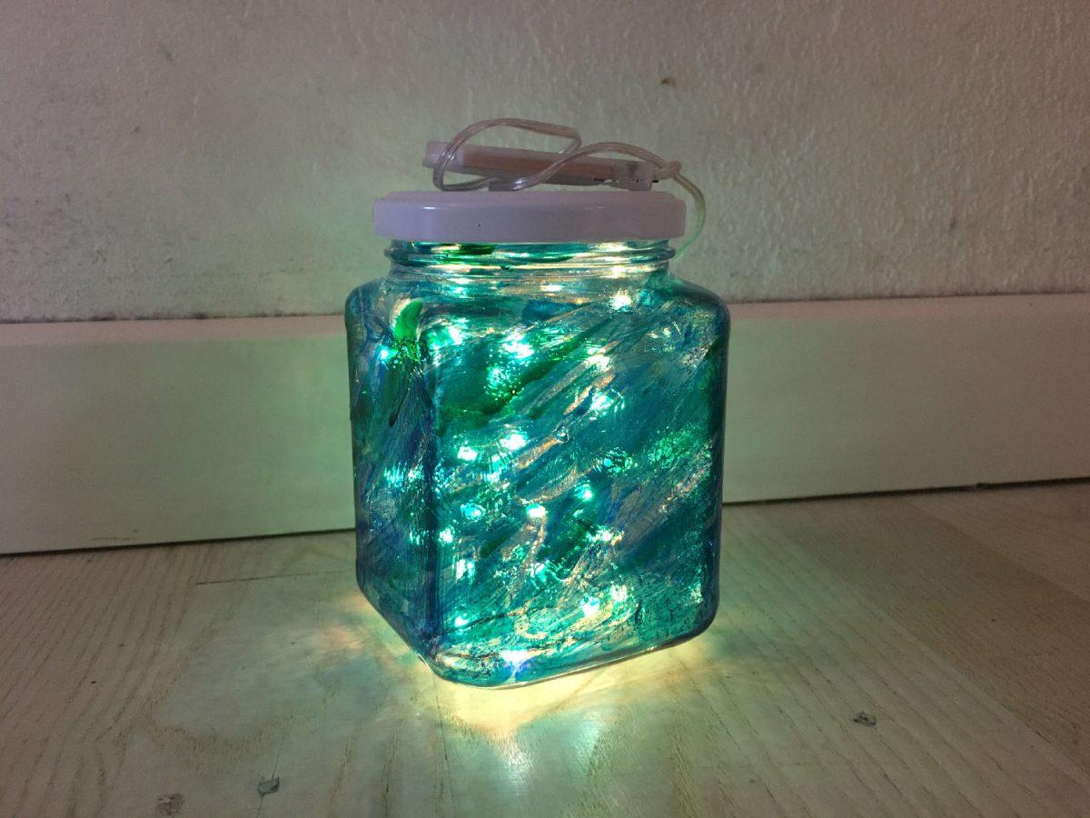 Krea med lyskæder: ildflue-/feglas