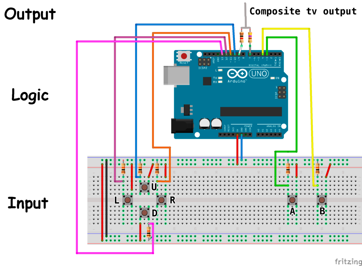 Building an Arduino Game System 1.0: Setup and schematics