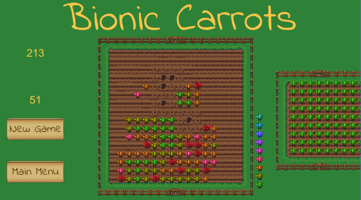 3 Games in 6 Months, part 3: From Minesweeper to Bionic Carrots